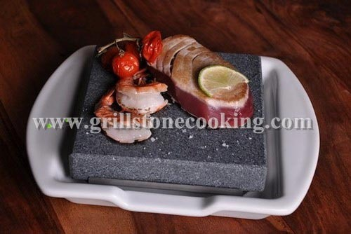 Lava Hot Rock Stones With Ceramic Platter