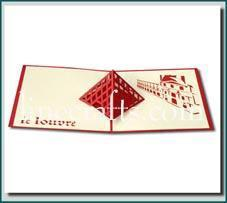 Le Louvre Pop Up Greeting Card Code Bd002