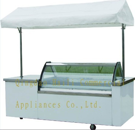 Leavo Ice Cream Showcase Gelate Dipping Cabinet Scooping Erica Series