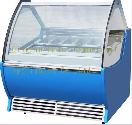 Leavo Ice Cream Showcase Gelate Dipping Cabinet Scooping