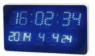 Led Calendar Clock With Arc Frame Temp Display