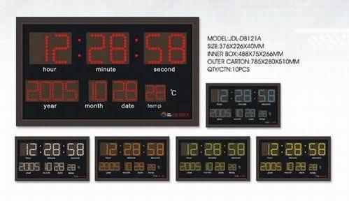 Led Digital Clock With Aluminum Alloy Frame