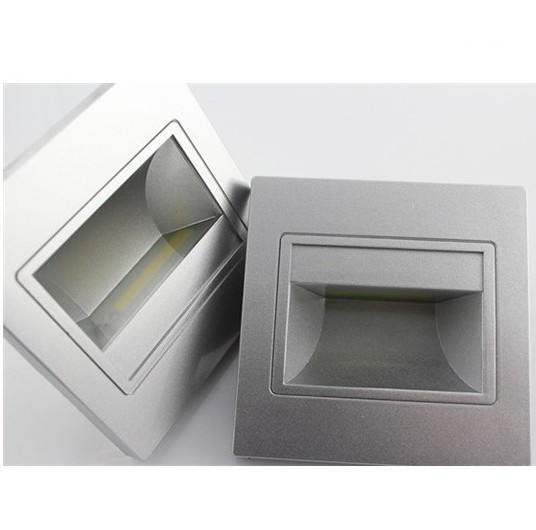 Led Inwall Light Silver Color Shape