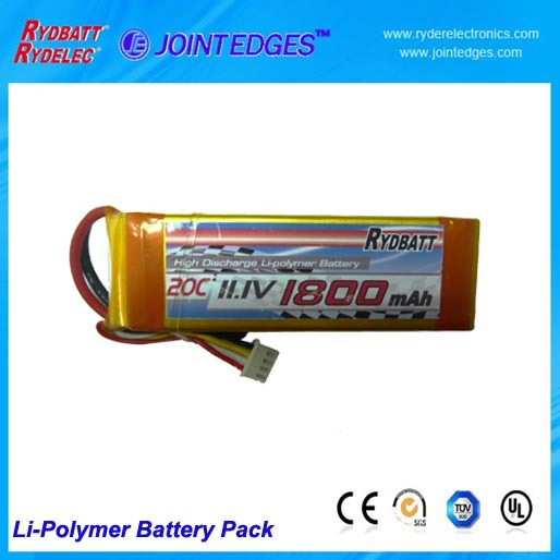Li Polymer Battery Pack 11 1v 20c 1800mah