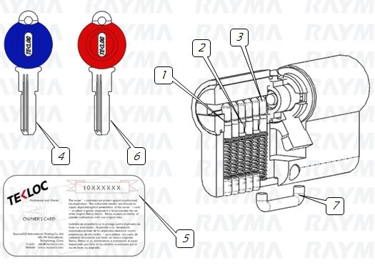 Lock Cylinder Rolling Shutter Computer Key Dimple Snaking Way