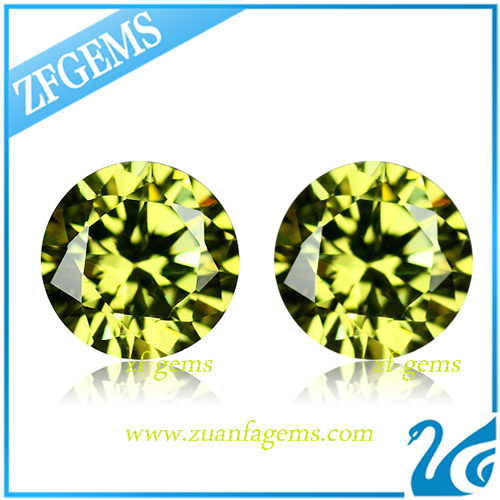 Loose Swiss 2mm Round Diamond Cut Color Cubic Zirconia