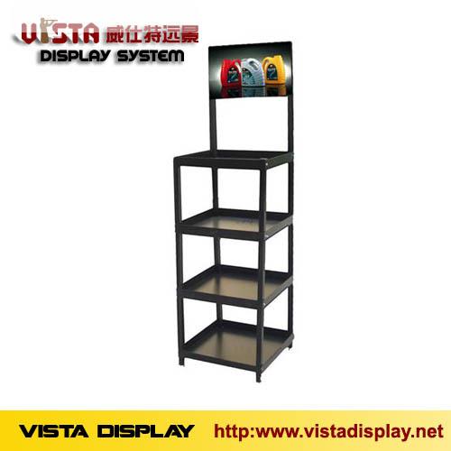 Lubricating Oil Metal Display Rack Shelf