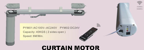 Manual Radio Curtain Motors