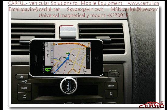 Manual Retractable Mobile Phone Holder Kfz004b Iphone Gps