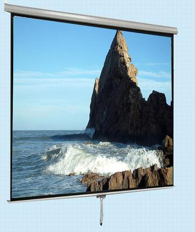 Manual Roll Down Projection Screen With Self Locking Device
