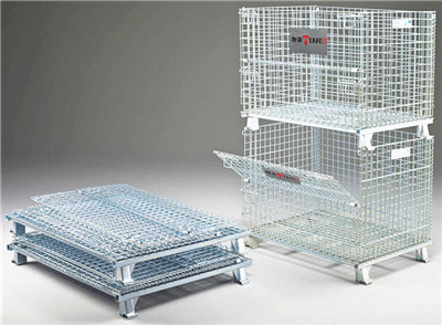 Material Handling Wire Mesh Cage For Warehouse Storage