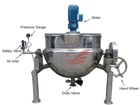Meat Processing Machines Jacketed Kettle