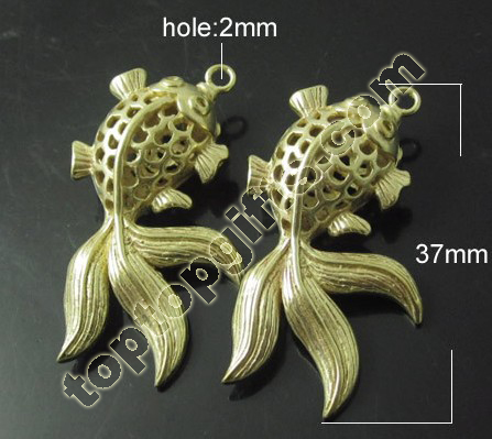 Metal Goldfish Pendant Animal Jewelry Accessories