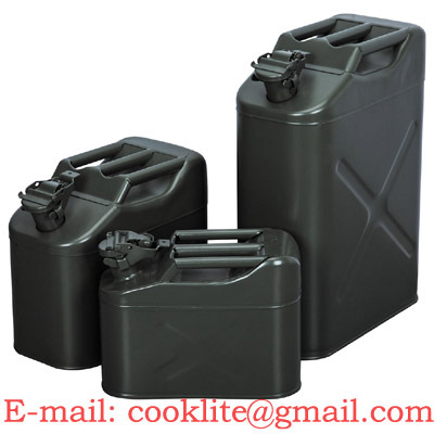 Metal Jerry Can Military Fuel Gasoline Canister 5 10 20l