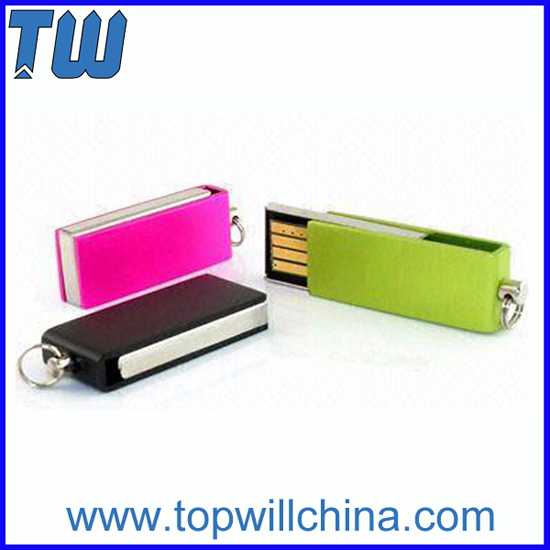 Metal Mini Twister Thumb Drive With Free Logo Printing And Key Ring