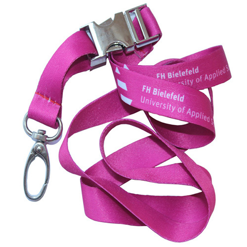 Metal Release Buckle Dye Sublimated Polyester Lanyard
