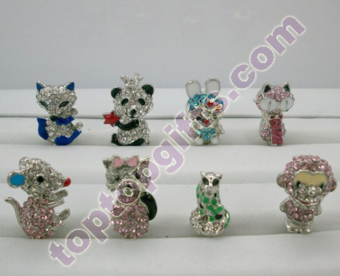 Metal Rhinestone Cartoon Earphone Dust Cap