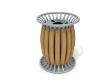Metal Sheet Wooden Outdoor Litter Bin