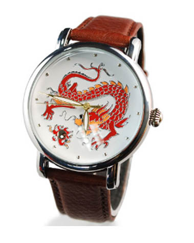 Metal Watch With Pu Strap