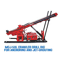 Mgj 50l Crawler Type Anchor Drilling Rig With Diesel