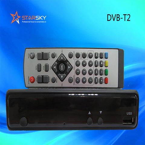 Mini Dvb T2 Tv Receiver Set Top Box Metal Decoder