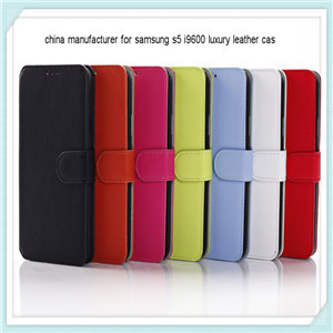 Mobile Phone Leather Case For Samsung S5 I9600
