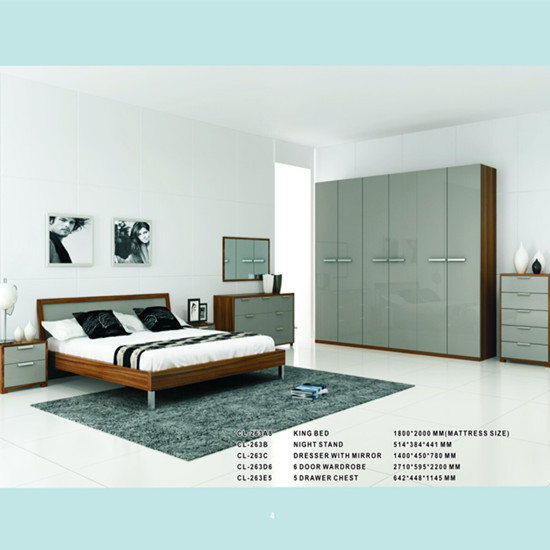Modern Bedroom Set Manufacturing Model Cl263