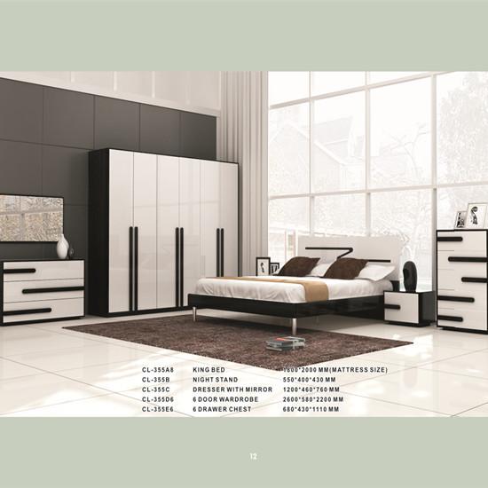 Modern Bedroom Set Manufacturing Model Cl355