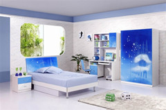 Modern Blue Children Bedroom Furniture