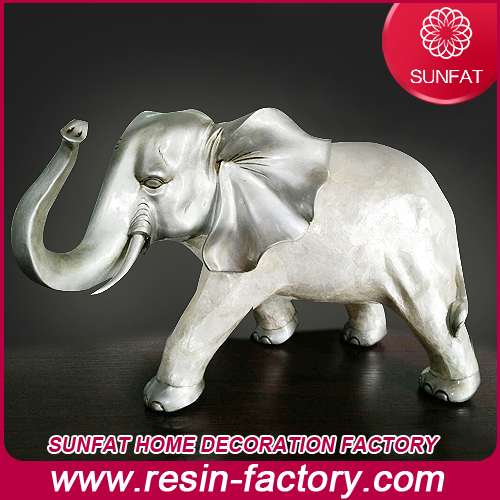 Modern Electroplated High Temp Home Decoration Resin Crafts Elephant Figuri