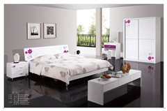 Modern High Gloss Lac Knock Down Panel Bedroom Furniture