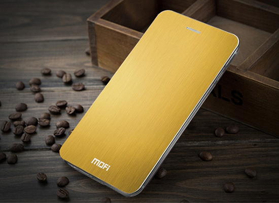 Mofi Brushed Aluminum Flip Cover Cases For Iphone6 6p With Pc Back Shell
