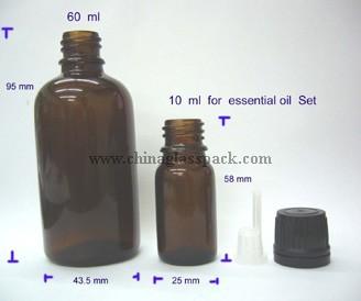 Moulded Glass Bottle Drop Dispensing Din 18mm