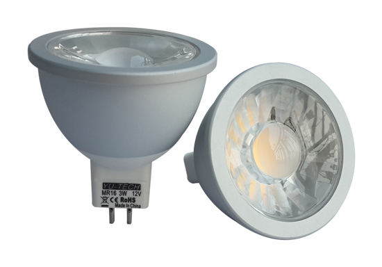 Mr16 Cob Spotlight With Aluminum Shell 3w 300 340lm Cir 80 Lifespan 45000 H