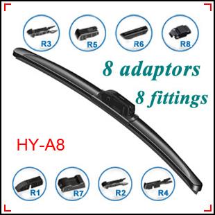 Multi Clips Flat Wiper Blades 8 Adaptors