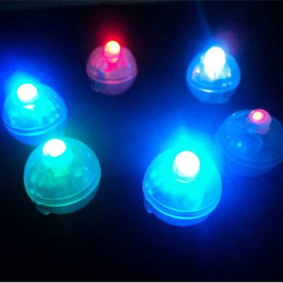 Multicolored Flashing Led Balloon Lights Mini Battery Decorative