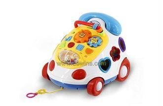 Music Phone Cable Car Toys With Blocks Eew110419508
