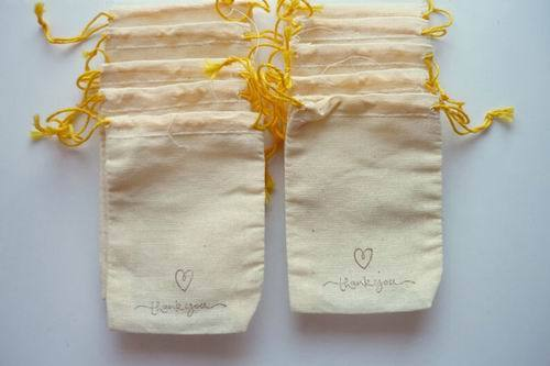 Muslin Bag Unbleached Draw String Tea Bags