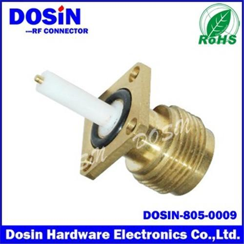 N Female Gold Plated Crimp Panel Receptacle Connector
