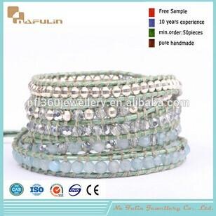 Nafulin Best Seller Crystal Silver Laser Stone Magnetic Clasp Bracelet