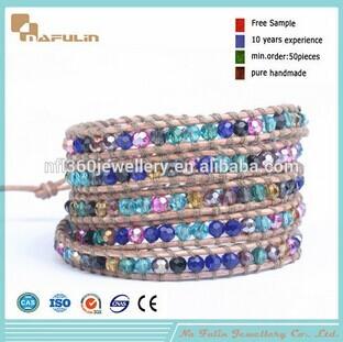 Nafulin Bohemia Style Cryrstal Colorful Stone Pave Bracelet