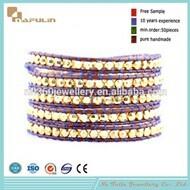 Nafulin Hot Selling Colorful Crystal Beads Cheap Custom Statement Bracelet
