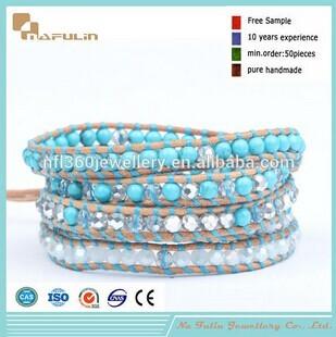 Nafulin Hot Selling Crystal Turquoise Pave Bulk Bracelet