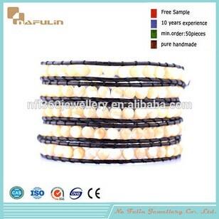 Nafulin Luxury Pearl Shell Beads Making Wrap Bracelet