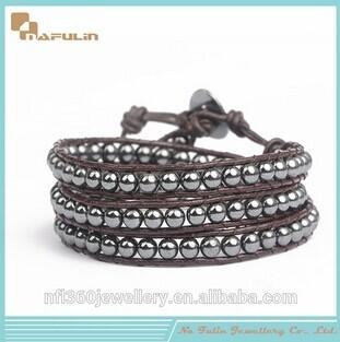 Nafulin Male And Female Couple Black Gallstone Bracelets