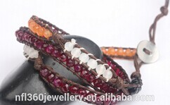 Nafulin Newest Arrival Sunshine Semi Precious Stone Decorative Bangle
