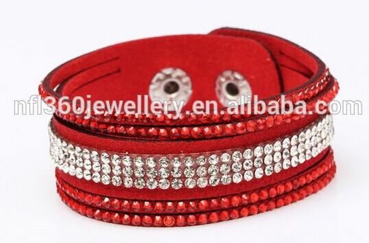 Nafulin White Rhinestone Charm Setting Bracelets