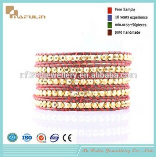 Nafulin Woven Laser Plating Beads Wrap Bracelet