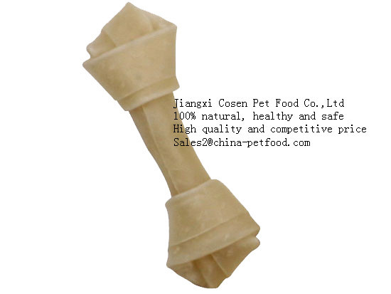 Natural Rawhide Knotted Bone For Dog Food
