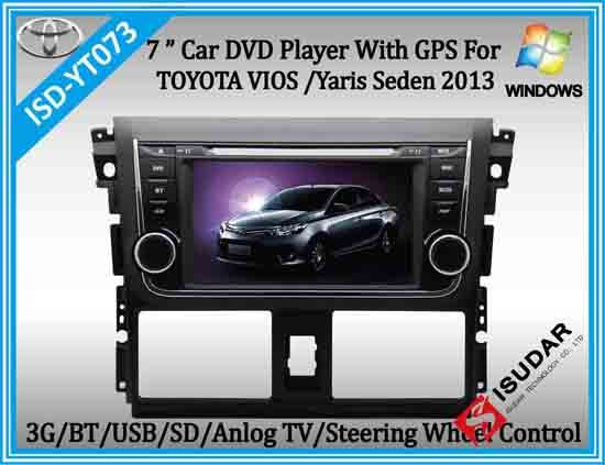 New 7 Inch 2 Din Wince Car Dvd Player With Gps For Toyota Vois 2013